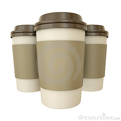 Free Coffee Cups Royalty Free Stock Photography - 18790137