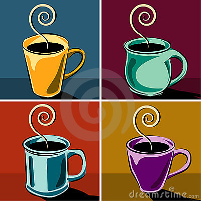 Free Coffee Cups Illustrations Royalty Free Stock Photos - 5446558