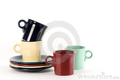 Coffee Cups & Plates