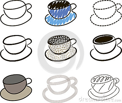 Coffee cups sketches