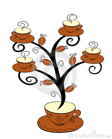 Coffee cups tree 1