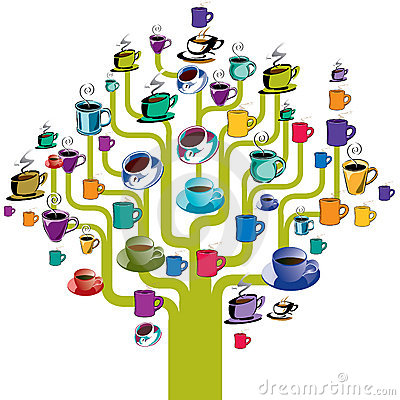 Coffee cups tree