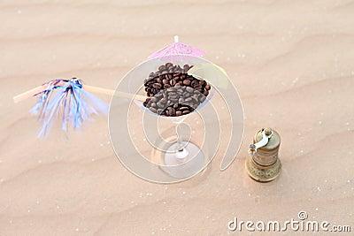 Coffee on the desert dunes