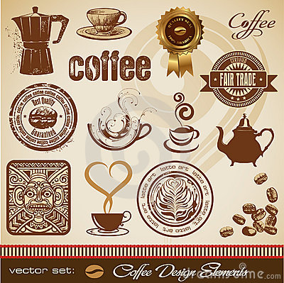 Free Coffee Design Elements Royalty Free Stock Images - 13016689