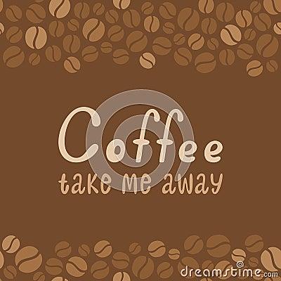 Coffee design lettering. Menu for restaurant, cafe