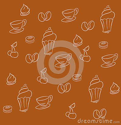Coffee dessert background