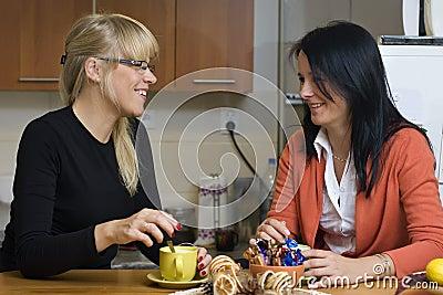 Coffee drinking home women