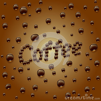 Coffee drops background