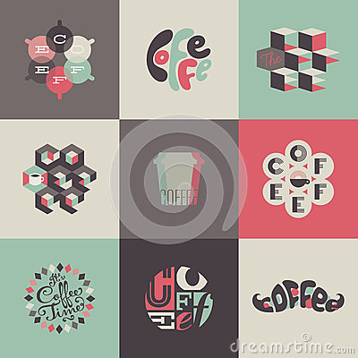 Free Coffee Emblems And Labels. Set Of Posters, Design Royalty Free Stock Photos - 30554088
