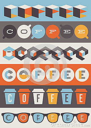 Coffee emblems. Set of design elements