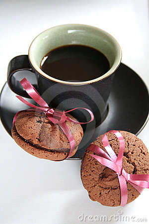 Coffee Espresso and Cookie Treat