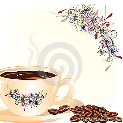 Coffee with floral