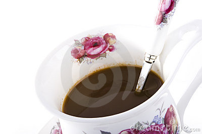 Coffee in floral mug
