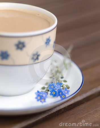Coffee and forget - me-not