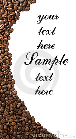 Coffee frame isolated with copyspase