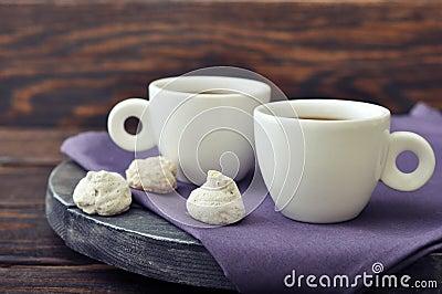 Coffee with fresh biscotti
