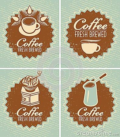 Coffee fresh brewed