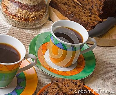 Coffee and Fruitcake