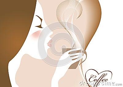 Coffee and girl