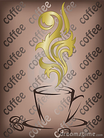 Coffee with the golden flavor