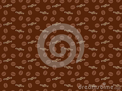 Coffee grains pattern