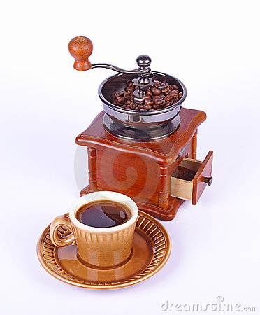 Coffee-grinder and coffee