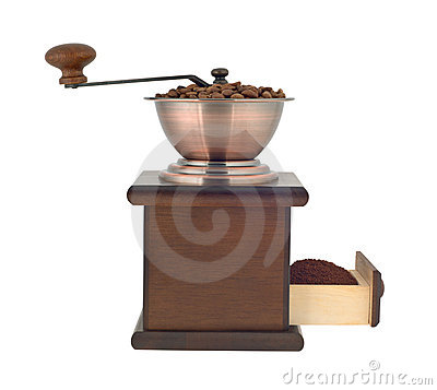 Free Coffee Grinder Profile Cutout Stock Photography - 7334502