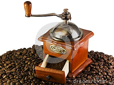Coffee grinders to coffee beans