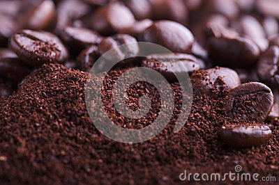 Coffee Ground and Beans