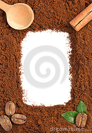 Free Coffee Grounds On White Stock Photography - 46817232