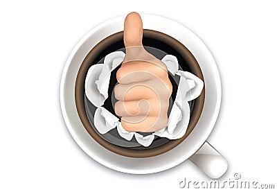 Coffee and hand