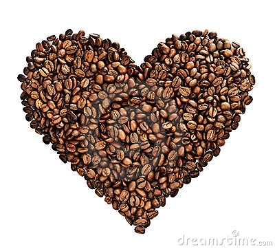 Free Coffee Heart Stock Image - 12283401