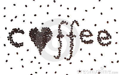 Coffee with a heart written in coffee beans