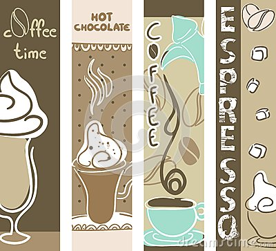 Coffee and Hot Chocolate banners