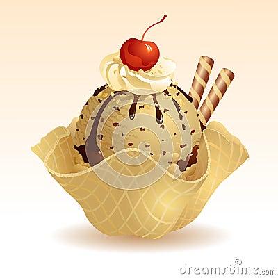 Free Coffee Ice Cream Stock Photography - 27549532