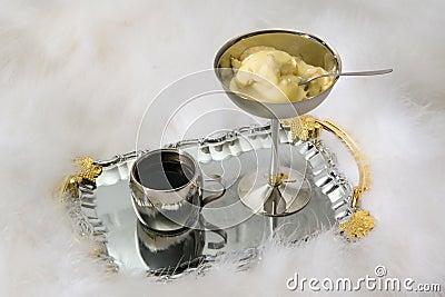 Coffee and ice-cream