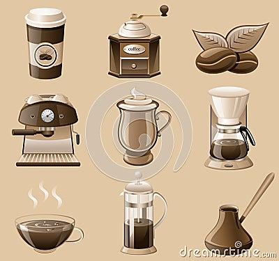 Free Coffee Icon Set. Royalty Free Stock Image - 18131466