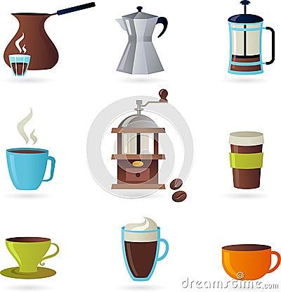 Coffee icons / logo set - 1