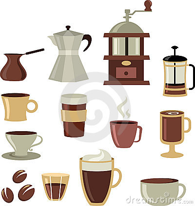 Coffee icons / logo set - 3