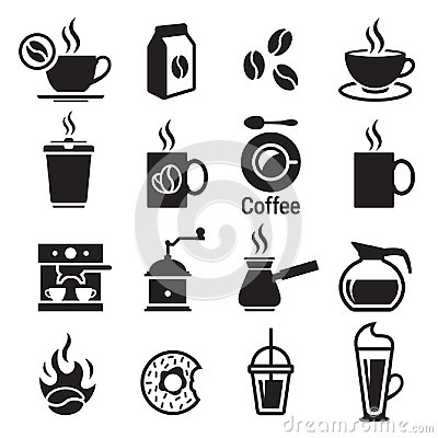 Free Coffee Icons Set Royalty Free Stock Images - 98702659