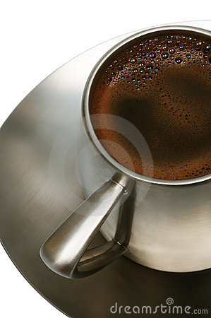 Free Coffee In A Metal Cup Stock Images - 4023914
