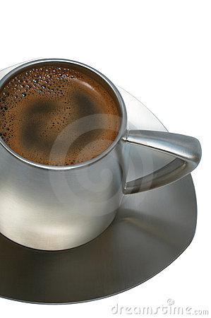 Free Coffee In A Metal Cup Royalty Free Stock Photos - 4065308