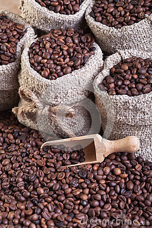 Free Coffee In Bags Royalty Free Stock Photography - 28828057