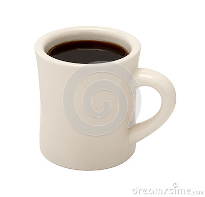 Free Coffee In Classic White Diner Cup Royalty Free Stock Photography - 62814007