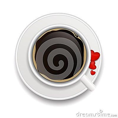 Coffee invitation background vector illustration