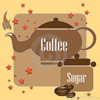 Coffee kettle and sugar