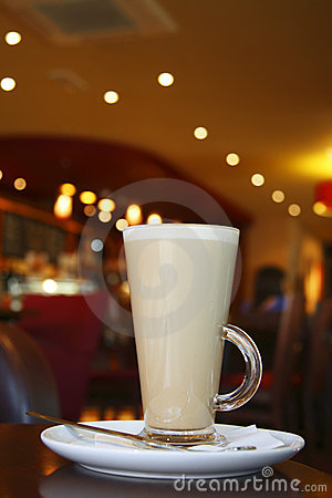 Coffee - Latte Cappuccino in a tall glass