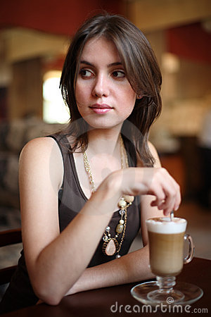 Coffee latte girl