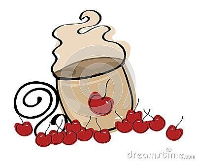Coffee latte logo