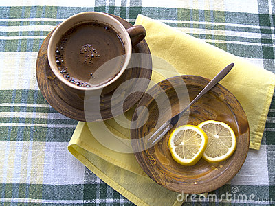 Coffee and lemon